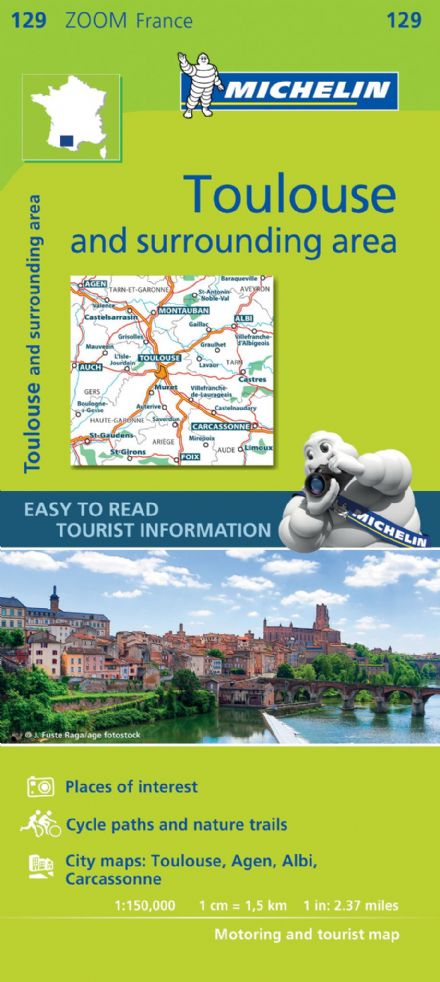 Map 129 - Toulouse & surrounding areas